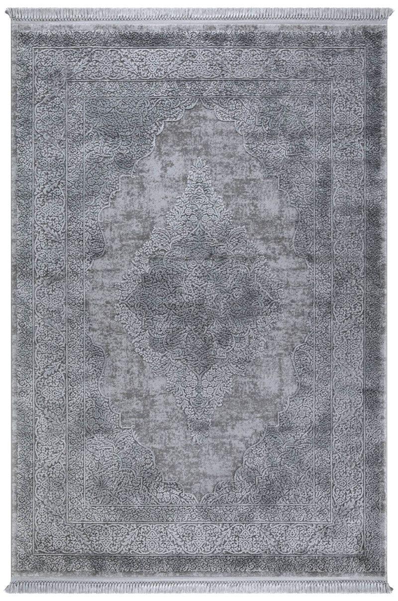 Quantity Surveying Grande 7 'x 10' Viscose Grey Area Rug