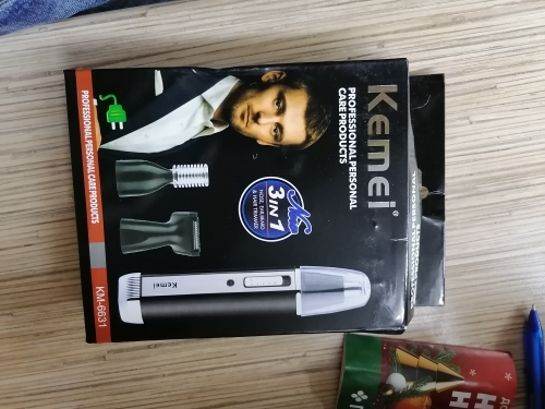 Kemei 4 in 1 Rechargeable Nose and Beard Trimmer - nose and ear hair removal cleaning machine photo review