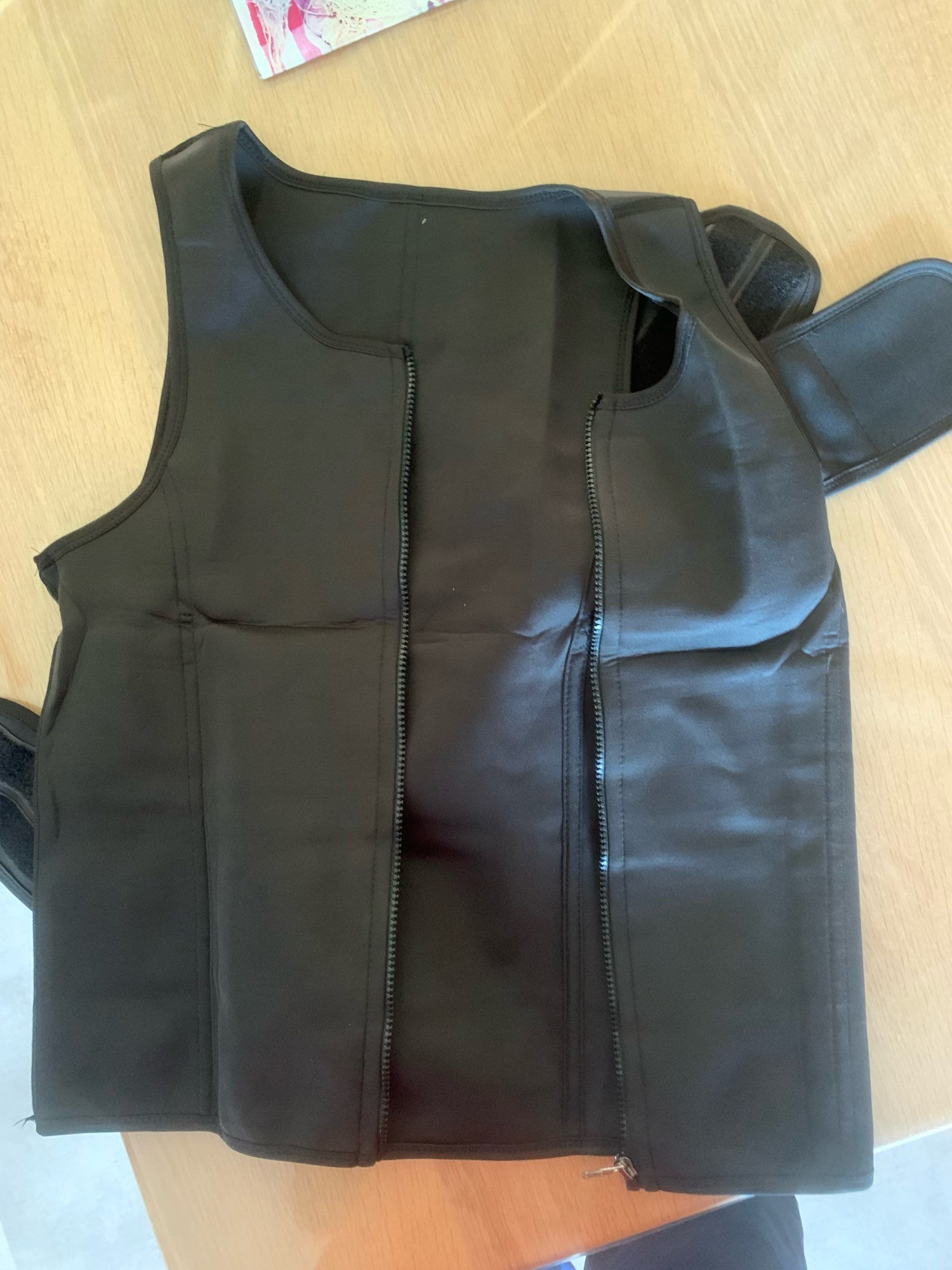 Men Body Shaper Waist Trainer Vest Slimming Shirt Sauna photo review