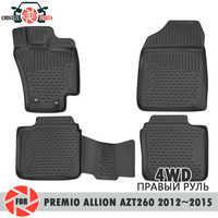 Tappetini per Toyota Premio Allion AZT260 2012 ~ 2015 4WD tappeti antiscivolo poliuretano sporco di protezione interno car styling
