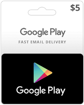 $ 5 USD Google Play Gift Card - 5 US Dollars Code Android Store Prepaid US Key image