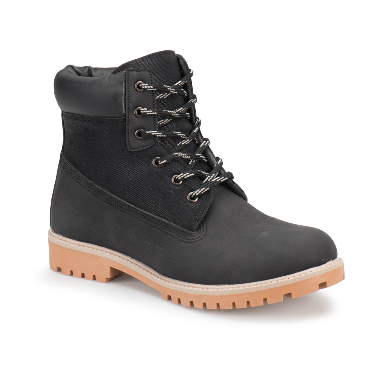 FLO ULB-10 Black Men Boots Panama Club