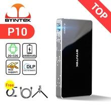 BYINTEK P10 inteligentny Android Wifi Full HD 1080P MAX 4K Mini kieszonkowy przenośny projektor LED do kina domowego Smartphone