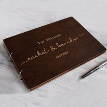 Personalized Wedding Guest Book Unique Wooden Guest Book Wedding Wishes Custom Name and Date A4/A5 Creative Beautiful