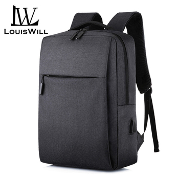 Louswill Laptop Backpacks Wear-resistant Shoulder Backpack Oxford Waterproof Computer Bag Backpack with USB Charging Port outdoor military tactical shoulder bag with usb charging chest bag wear resistant travel camping backpack cycling