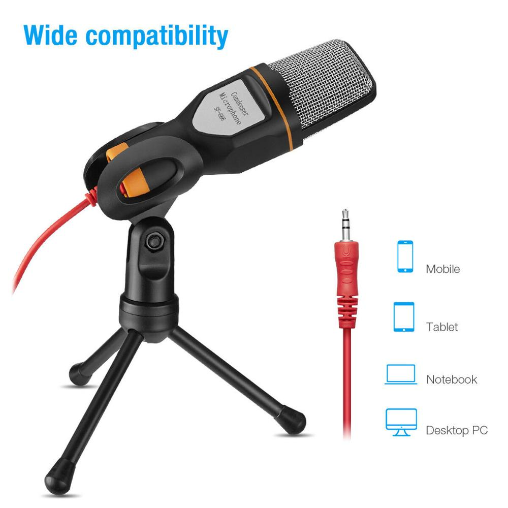 Metal USB Condenser Recording Microphone For Laptop KTV Or Windows Cardioid Studio Recording Vocals Voice Over