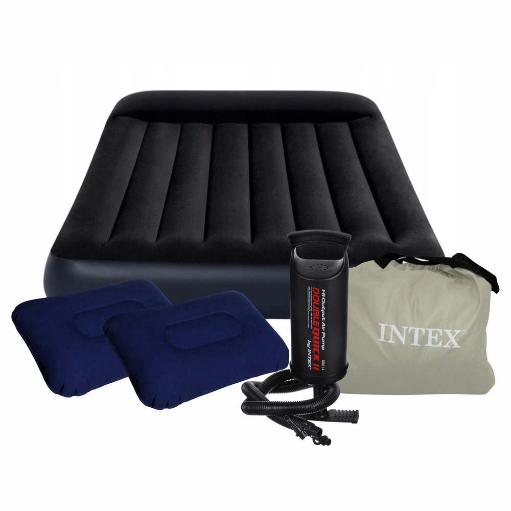 Inflatable Mattress Intex 66768 Inflatable Mattress Camping Fishing For Sleep Camping Double