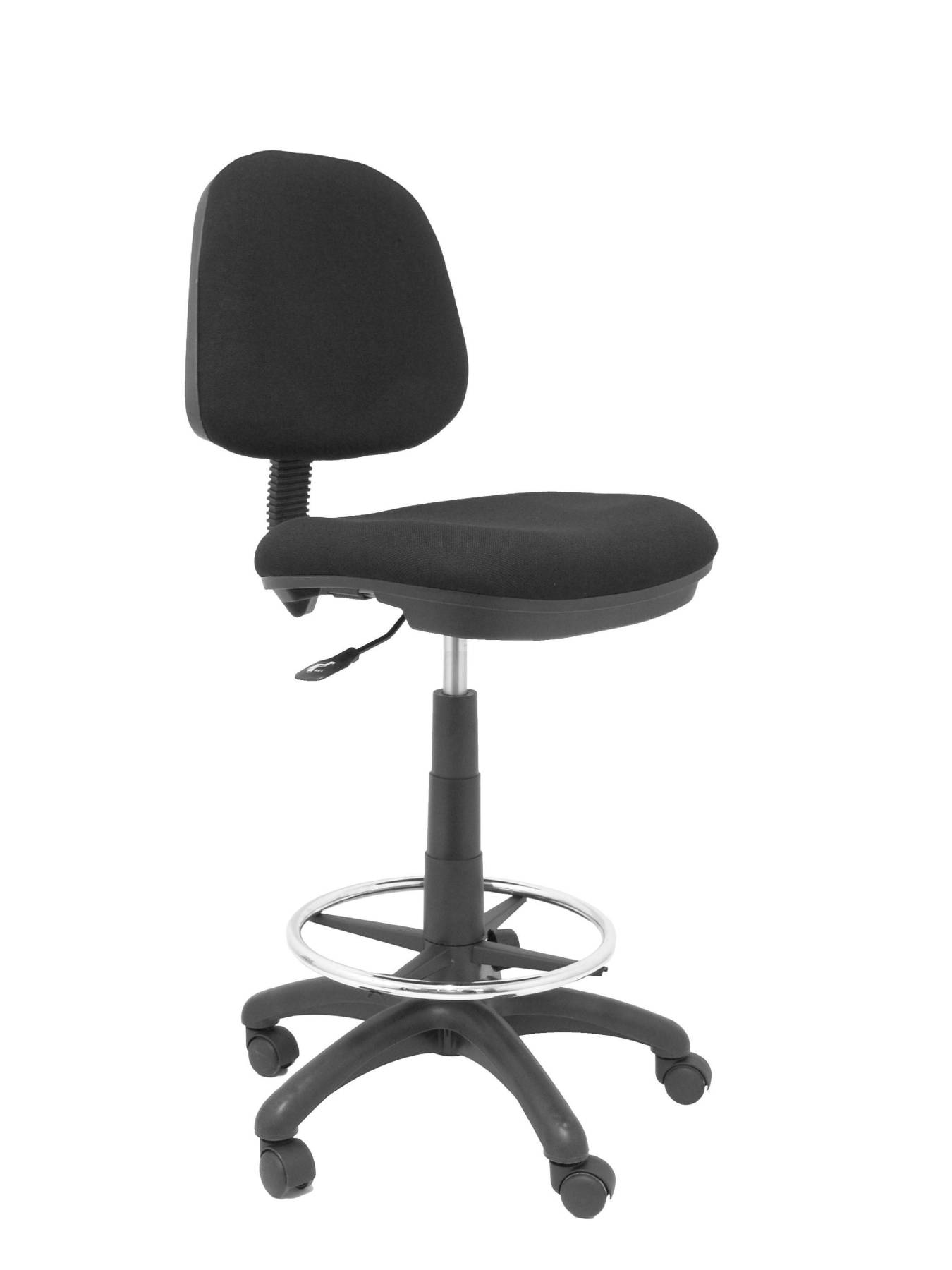 Stool Ergonomic Swivel And Dimmable In High Altitude With Hoop Foot Pegs Chrome (INCLUDED) Up Seat And Backstop Upholstery