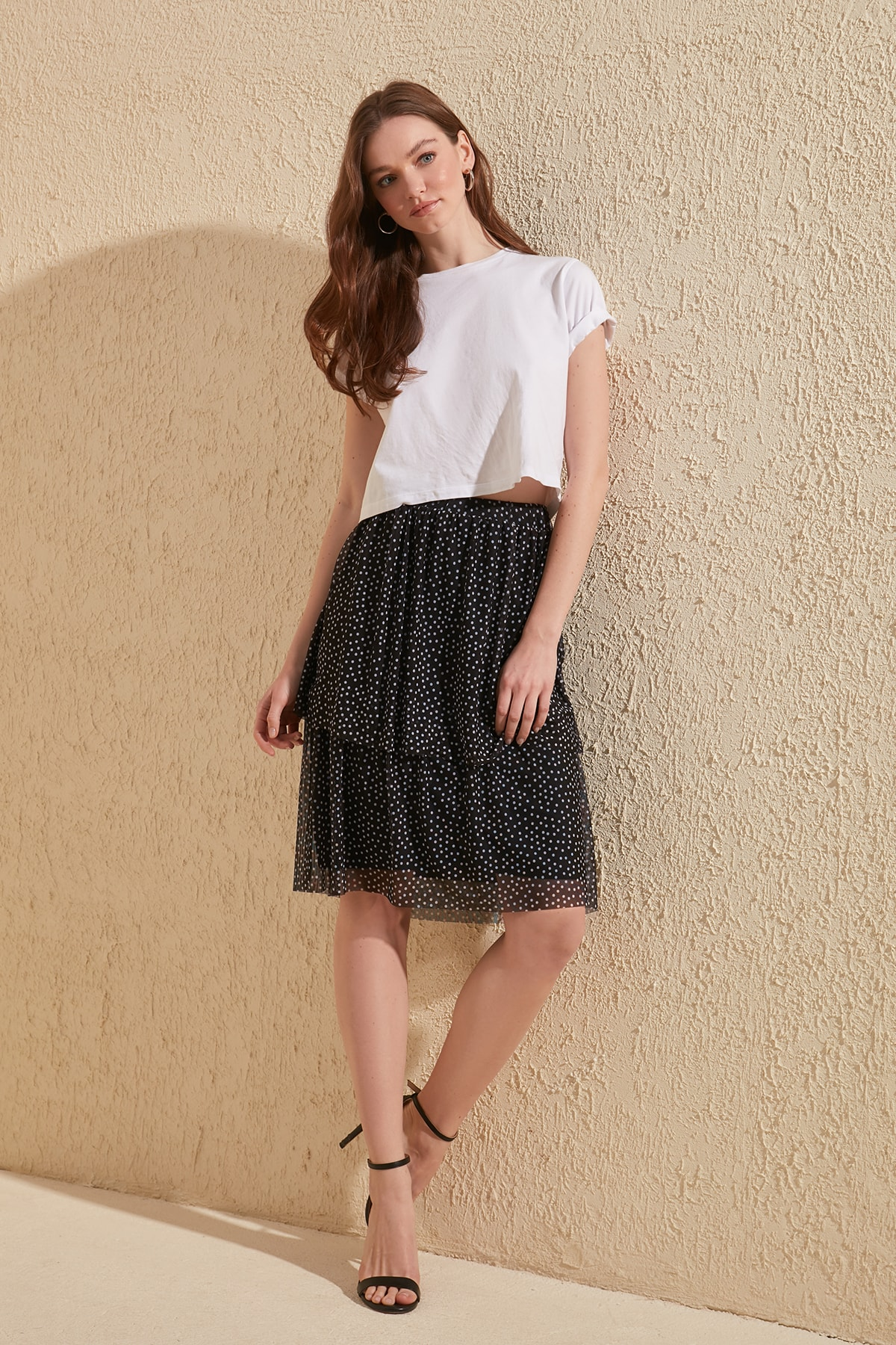 Trendyol Polka Dot Knitted Skirt TWOSS20ET0193