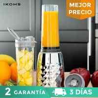 IKOHS BEIZ SLIM Glass mixer400ml234W Professional Portable mixer Chromed Metallic Vegetable Fruit Citrus Orange 1 vaso