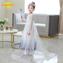 AngelGirl Dress Princess Kids Girls Xmas Halloween and Christmas Party Costumes Cosplay Child Clothes Princess Queen  Dresses