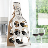 טוב יין מתקפל עץ מדף יין באתר
