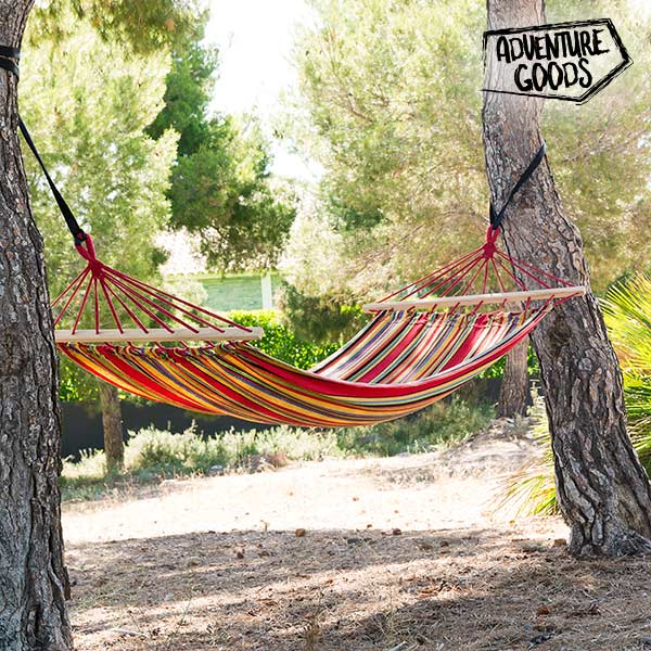 Adventure Goods Multicoloured Hanging Hammock