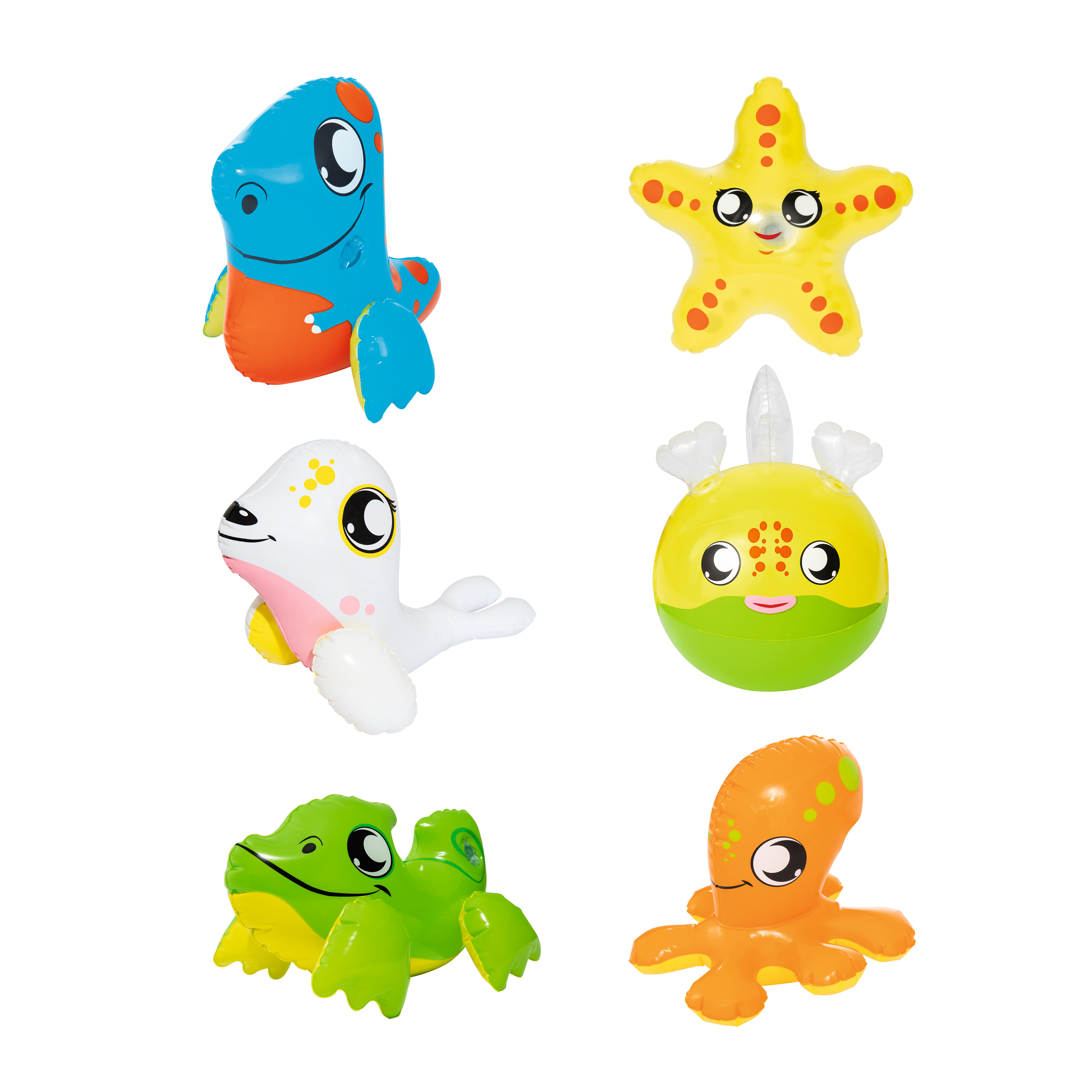 Inflatable Toy 30 Cm, 6 Kinds Of Animal, Bestway, Item No. 34030