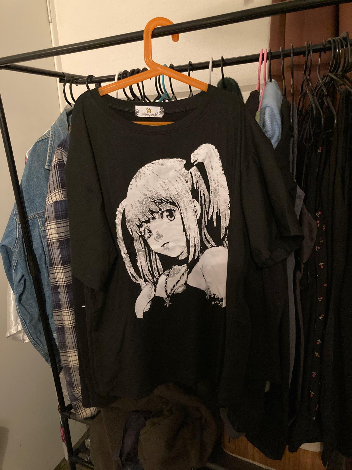 E-girl Harajuku Anime print T-Shirts Death Note Misa Amane photo review