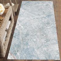 Mais azul branco mármore pedras nordec escandinavo 3d impressão não deslizamento microfibra lavável corredor tapetes tapete corredor