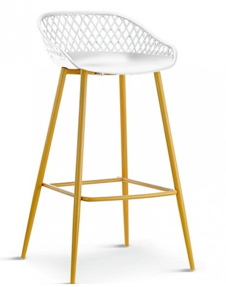 Stool MONICA Metal White Polypropylene