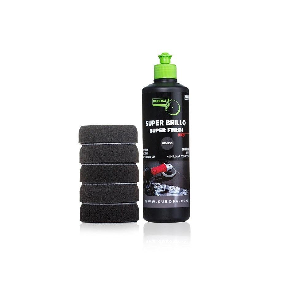 Dark car polishing Kit, super shine, SUPER FINISH, antihologram, scratch off, black car polish, RIM