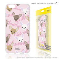 FunnyTech®Silicone Case for Huawei P30 Lite l Mini chihuahua pink background