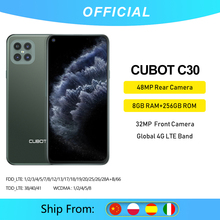 Cubot C30 48MP Quad 256GB 8GB WCDMA/LTE/GSM NFC Mcharge Octa Core Face Recognition New