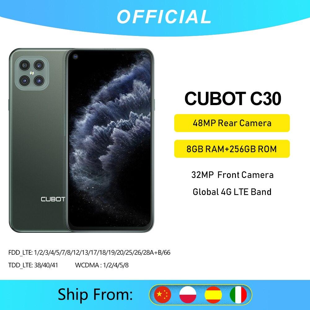 Cubot C30 48MP Quad AI caméra 8 go + 256 go 32MP Selfie Smartphone Global 4G LTE Helio P60 NFC 6.4 pouces FHD + 4200mAh Android 10 | AliExpress