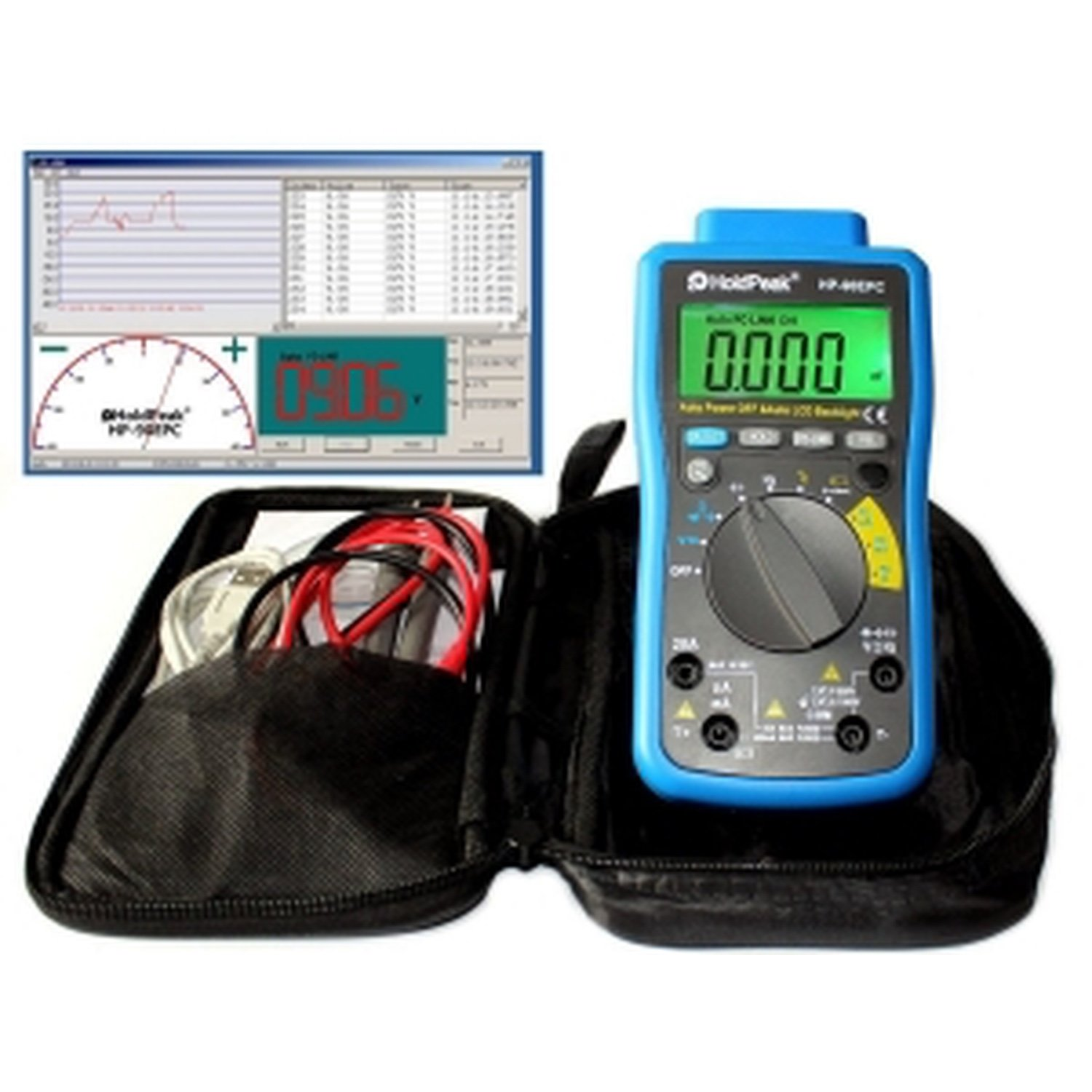 HP-90EPC HoldPeak TRUE RMS Auto Ranging Digital Multimeter with Battery Test/Min Max Value цена