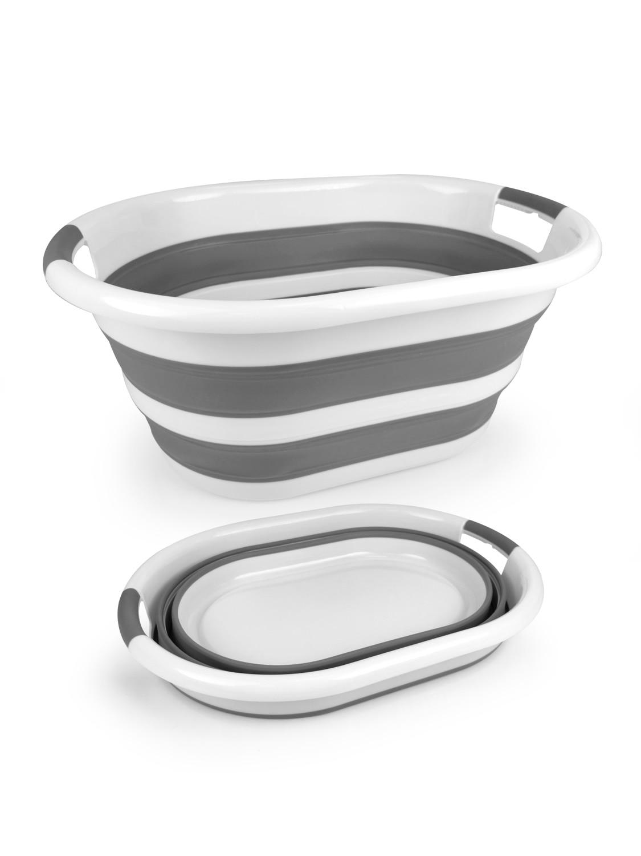 Estares / Таз складной силиконовый ES-BS-portable-24l-54x39x24/7-white/gray