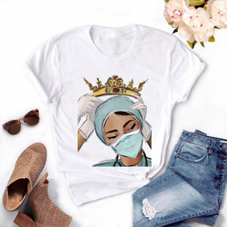 2020 Women's Nurse Queen T-shirts Girl Summer 90s Ullzang Harajuku Ture Hero Cropped T Shirt ,Drop Ship