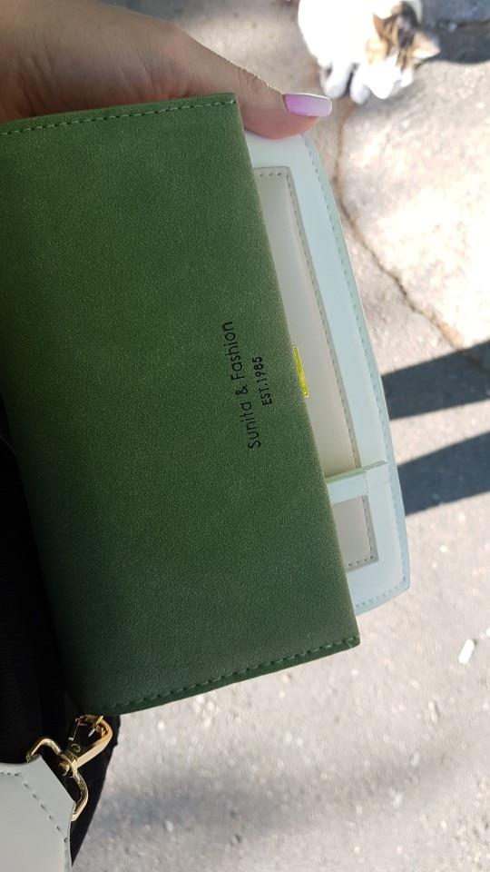 Vegan Leather Contrast Color Crossbody Bags