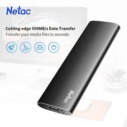 Netac ZSLIM SSD Внешний портативный SSD ТБ 1 ТБ 500GB 250GB жесткий диск USB 3,1 Type C внешние твердотельные накопители для ноутбука