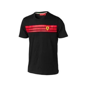 T-shirt man Ferrari striped black size XL