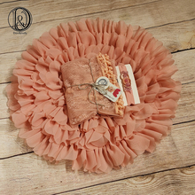 Don&Judy Blanket with Matched Stretch Lace Wrap and Headband Sets Infant Photo Shoot Newborn Photography Props Baby Blankets
