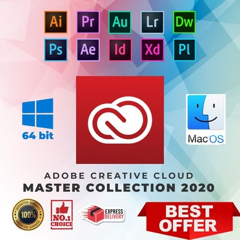 ADOBE MASTER COLLECTION CC 2020 Mac OS / Windows 2021 LifeTime Activation LAST Version