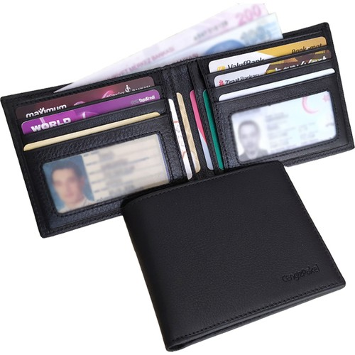 Cengiz Pakel Genuine Italian Leather Fine off) Cz Diamond and multi-compartment Hand Made Wallet For Men