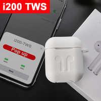 I200 TWS Aire 2 réplica Original 1:1 Bluetooth 5,0 Headphone auricular inalámbrico Qi de carga POP PK i12 i60 i100 i500 tws