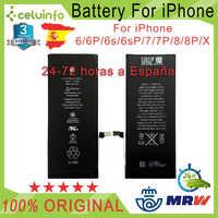 Nuevo Bateria Original para iPhone 5 5C 5S SE 6 6s 6 Plus 6s Plus 7 7 Plus 8 8 Plus AAAAA Calidad Envío desde España