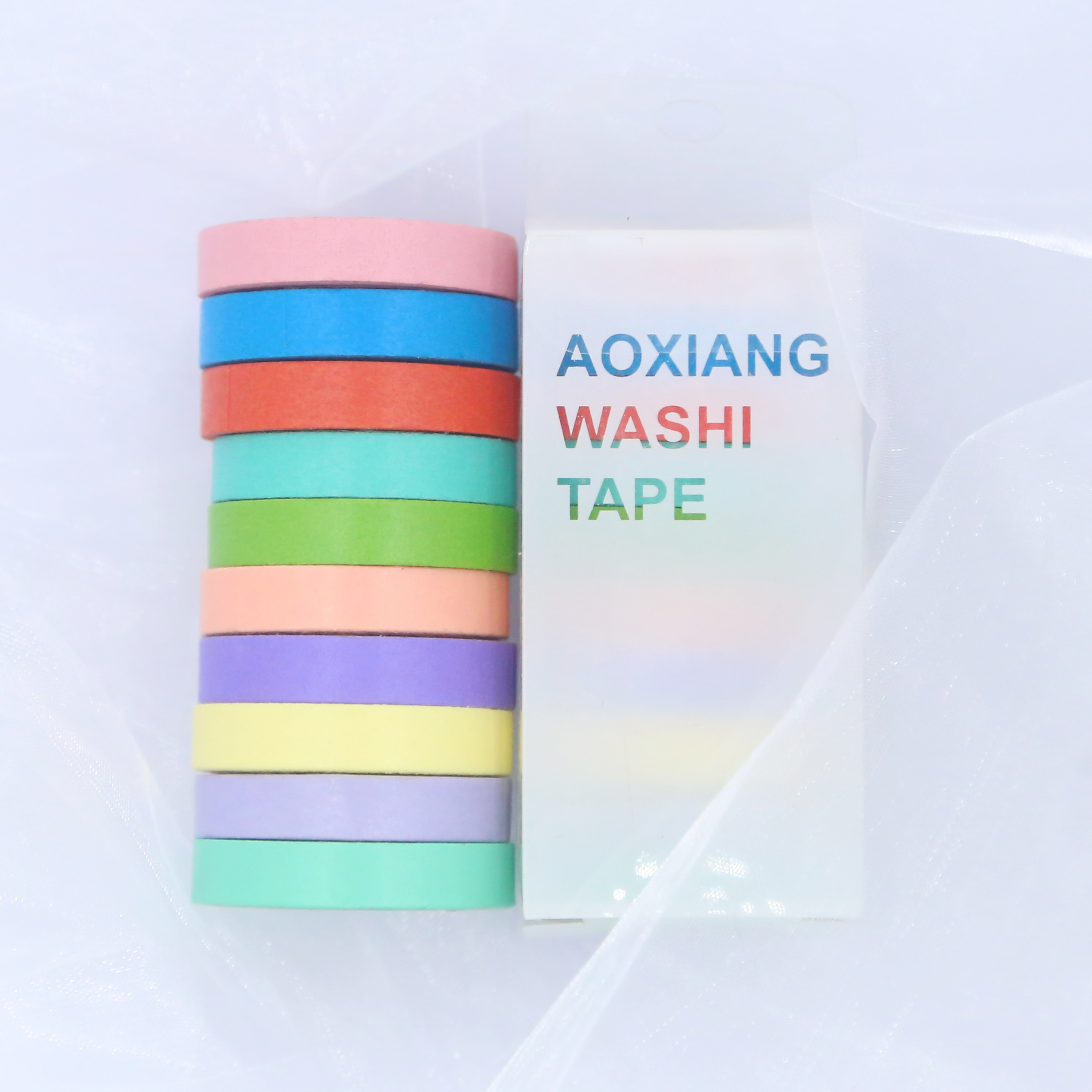 10uds/lot Washi Tape Adhesive Tape Zeal Colors For Album 10 Colors 8mm Amplitude Decoration
