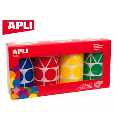 GOMETS APLI FIGURES ASSORTED T AMAÑO XL PACK 4 ROLLS COLORS ASSORTED 5428 PCS