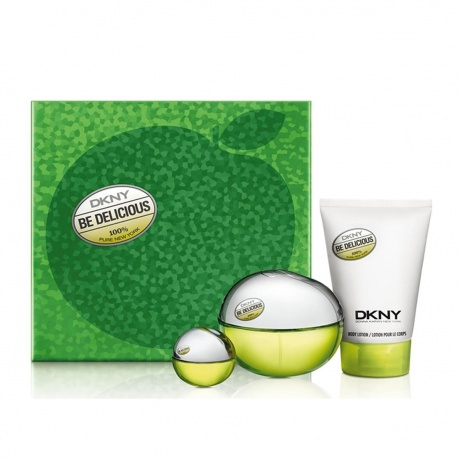 DONNA KARAN DKNY APPLE HOLIDAY EDT 100ML + BODY LOTION 100ML + MINIATURE