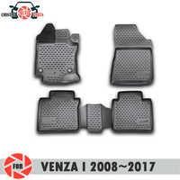 Tapis de sol pour Toyota Venza I 2008 ~ 2017 tapis antidérapants en polyuréthane protection contre la saleté accessoires de style de voiture intérieure