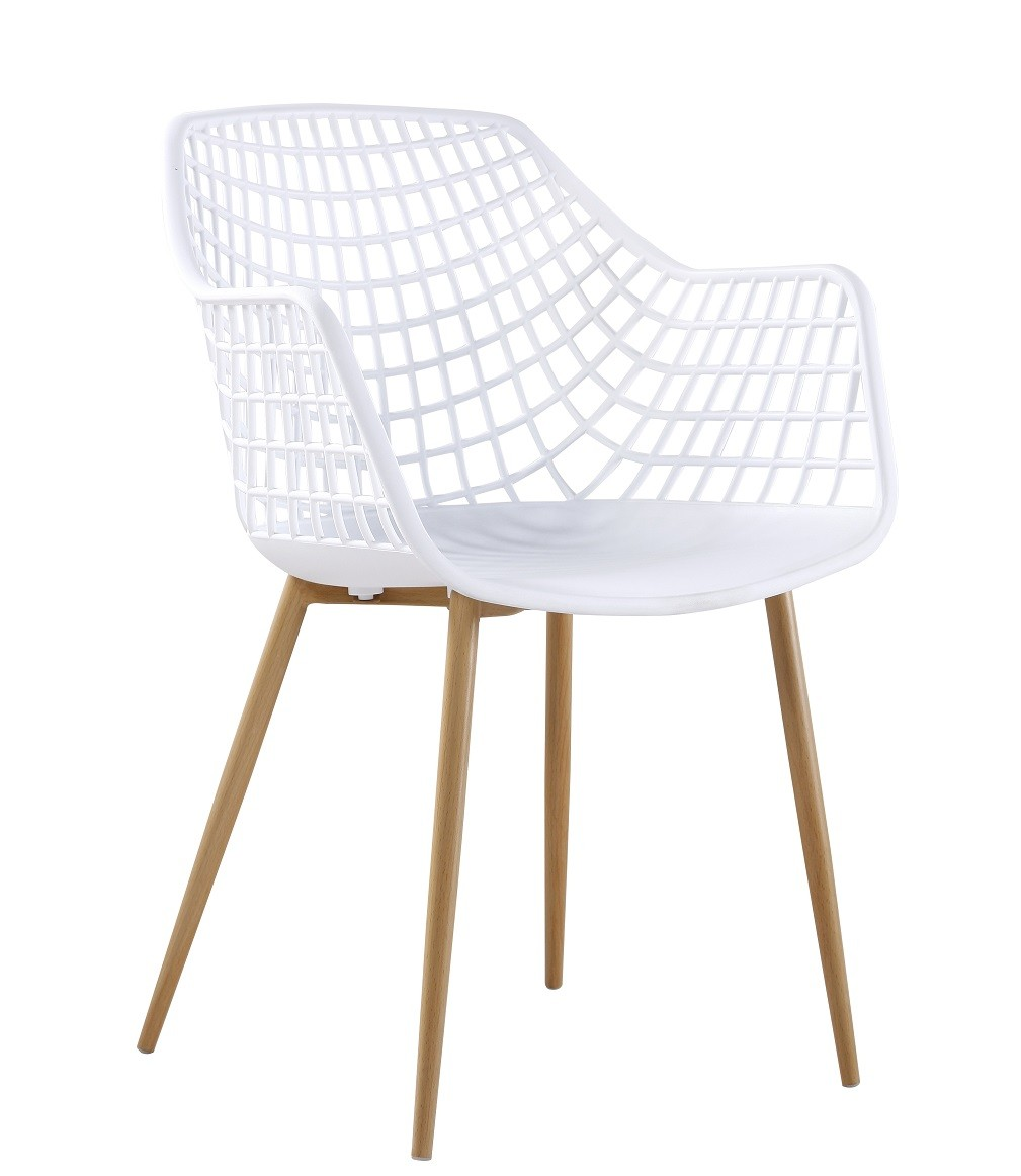 Armchair MONICA Metal White Polypropylene