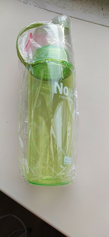 Water Bottle Mist Blue 600ml photo review
