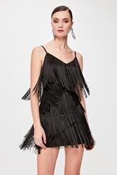Trendyol Tassel Detail Dress TPRSS20EL0064