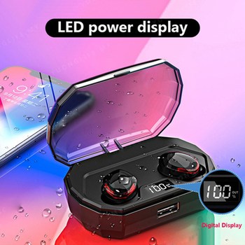 VITOG New R10 TWS Bluetooth 5.0 Waterproof Earphone LED Power Display Wireless Earbuds 3D Stereo Sound Handfree Headset With Mic