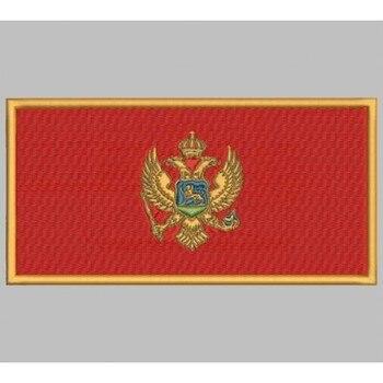 Bandera Montenegro Para Mascarilla Parche Bordado Sắt Miếng Dán Toppa Ricamata Gestickter Miếng Dán Miếng Dán Brode