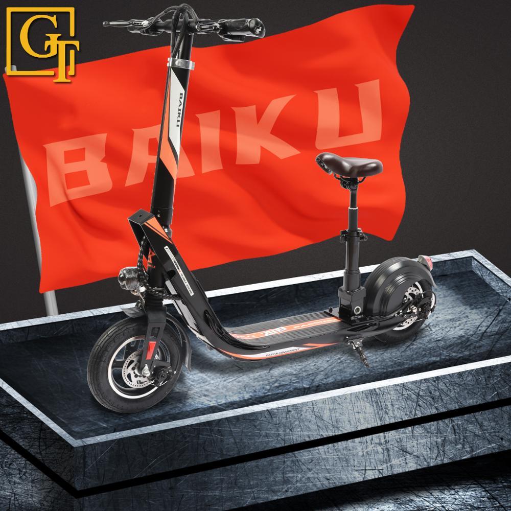 Baiku Passion Scooter électrique Samokat adulte 36V 400W fort puissant IP56 étanche ultra-léger pliable vélo