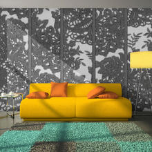 Papier peint-fine grise - 50x1000 cm