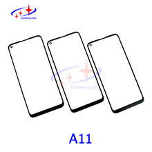 A11 Front Glass With OCA Film For Samsung Galaxy a11 LCD Screen Outer Lens Refurbish High Quality Touch Screen Replacement