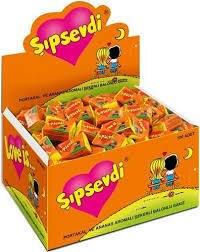 LOVE IS BUBBLE жевательная резинка оранжевый и ананас подарок на день Святого Валентина комиксы Лучший 100 x