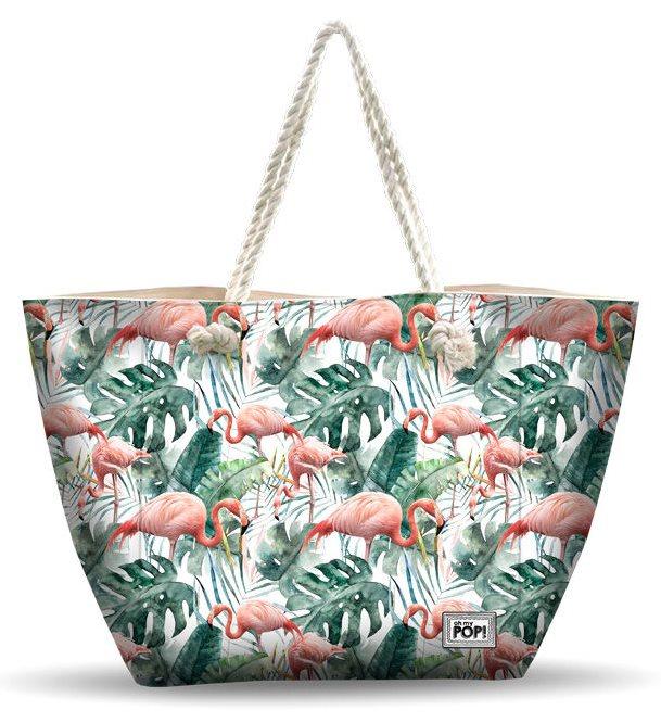 Beach Bag Ooh My Pop Tropical Flamingo 32x50 Cm.
